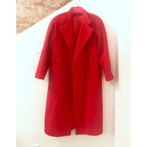 Fleurette Red Winter Coat